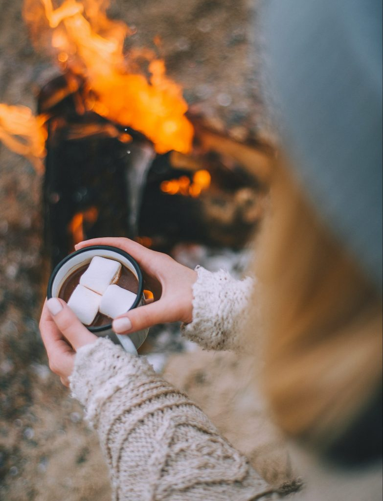 Drinking marshmallows with fire