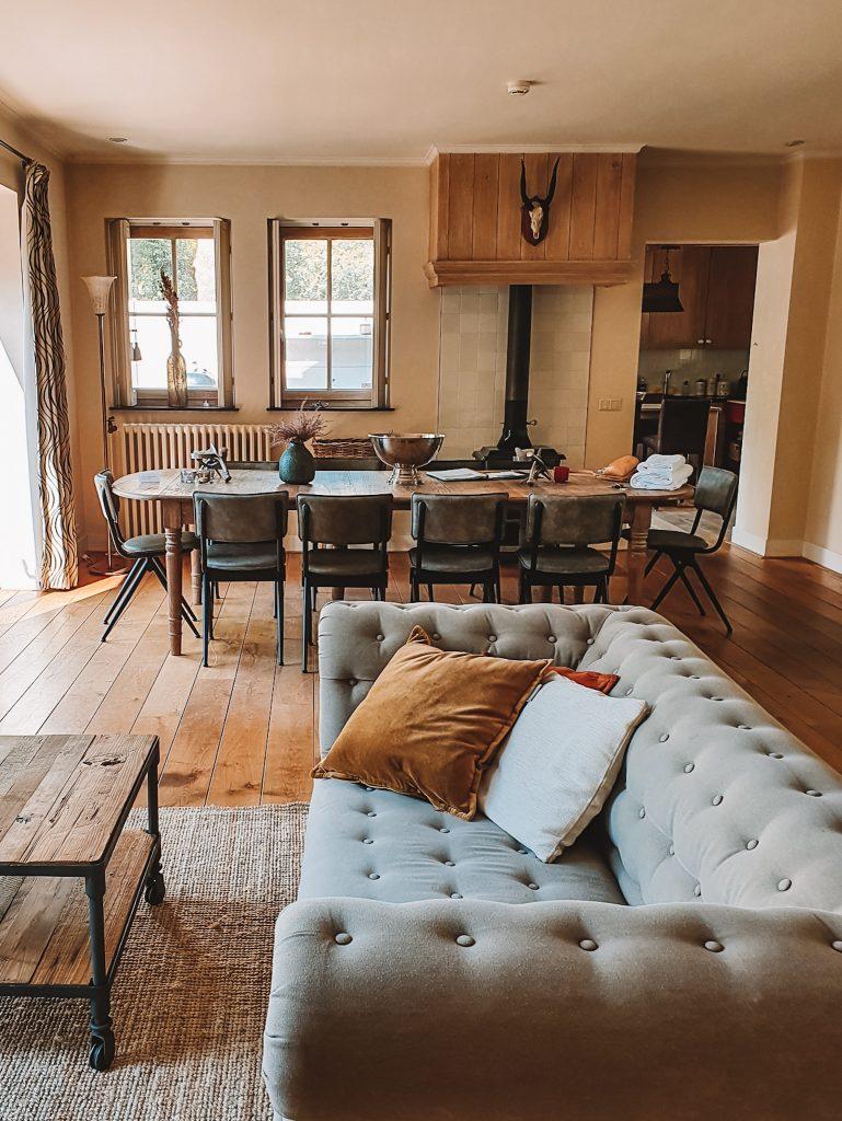 livingroom kitchen bosvilla Kennemerduinen