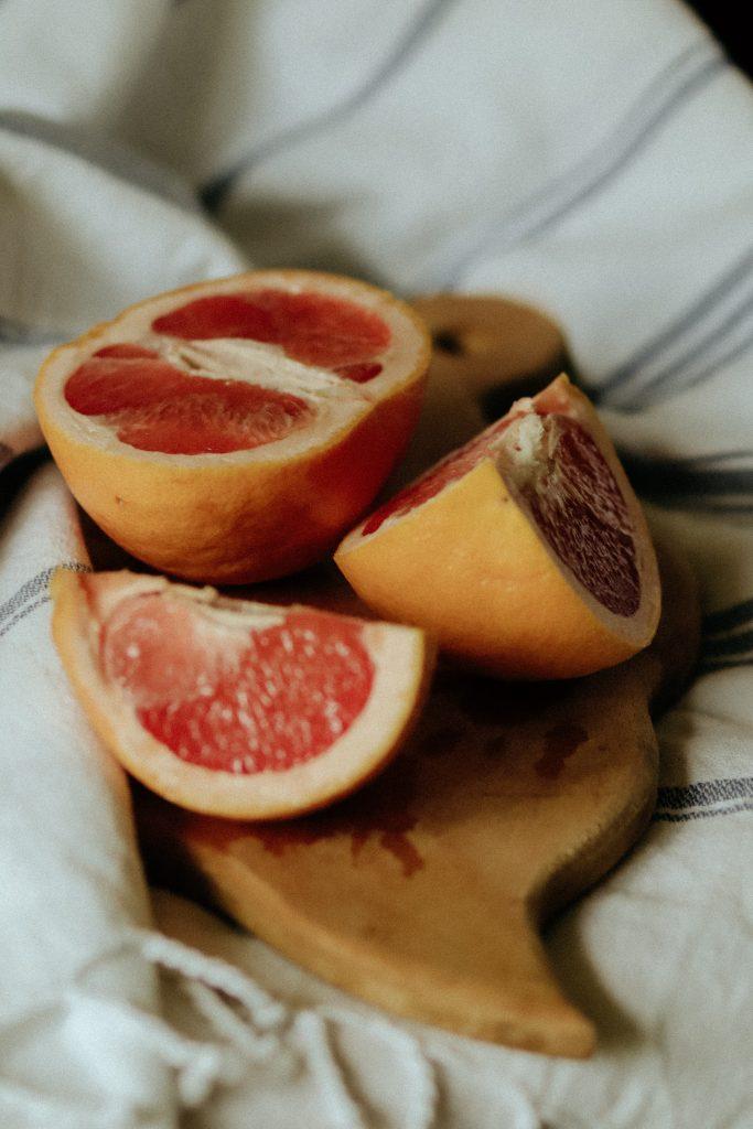 grapefruit for coconut yogurt bowl