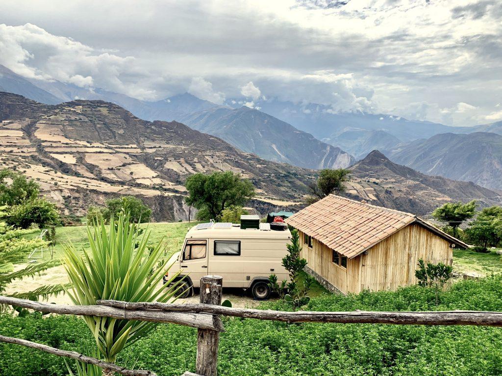 Travelling by van in South America