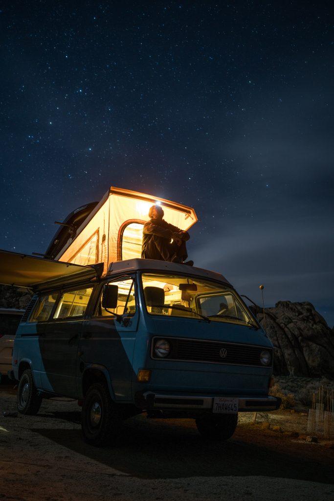 Vanlife, starry sky