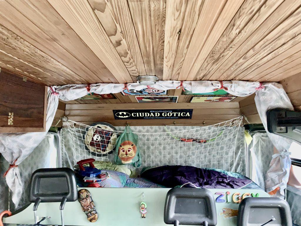 Children's spot in campervan