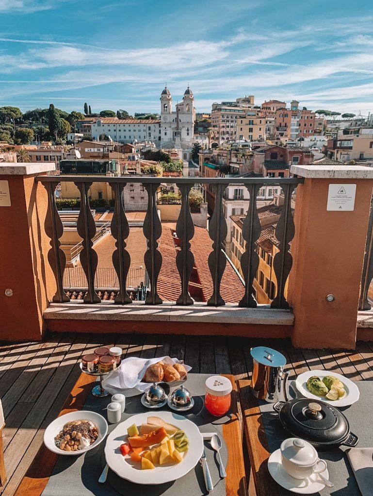 breakfast at hotel Portrait Rome