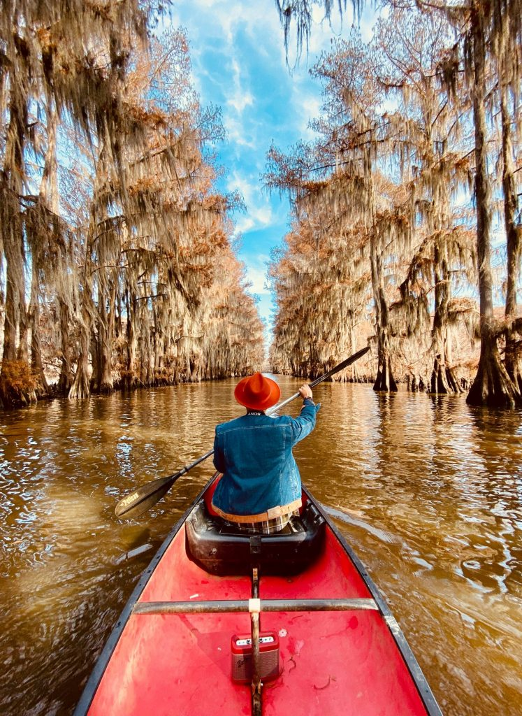 Travel after the pandemic, kayak adventure