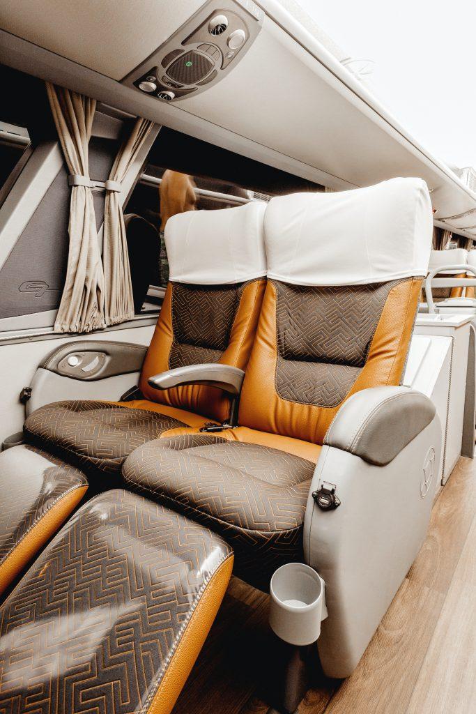 Bus seats comfort